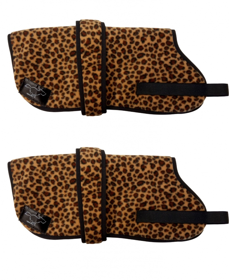 Personalised Fleece Dog Coats - Cheetah