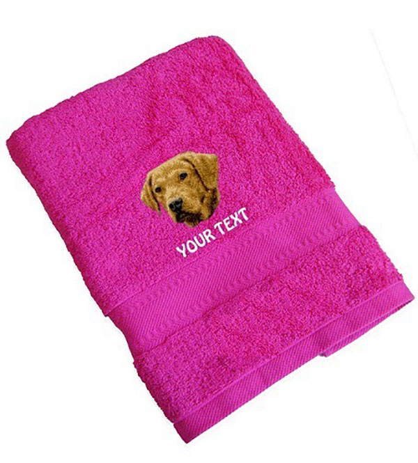 Chesapeake Bay Retriever Personalised Dog Towels Standard Range - Hand Towel