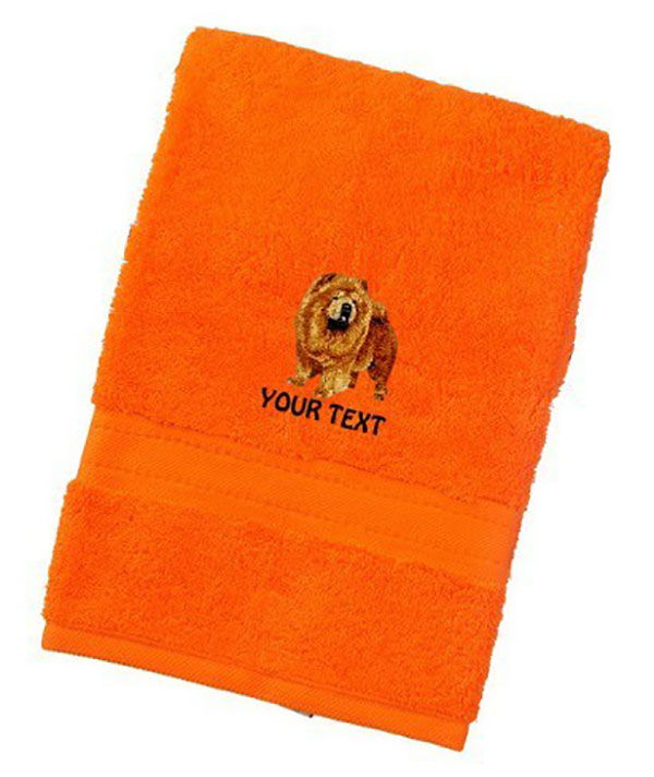 Chow Chow Personalised Dog Towels Luxury Range - Face Cloth