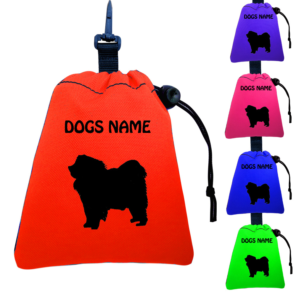 Chow Chow Personalised Training Treat Bags - Clips To Dog Lead