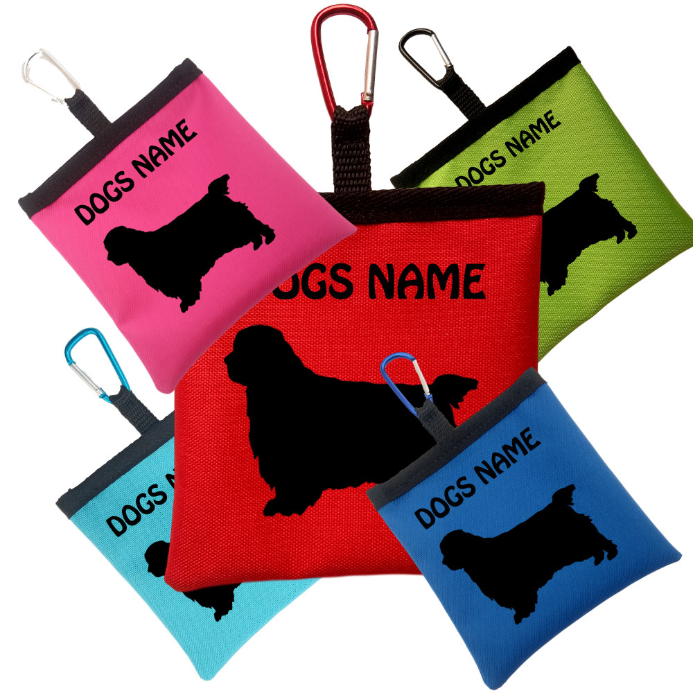 Clumber Spaniel Personalised Dog Training Treat Bag