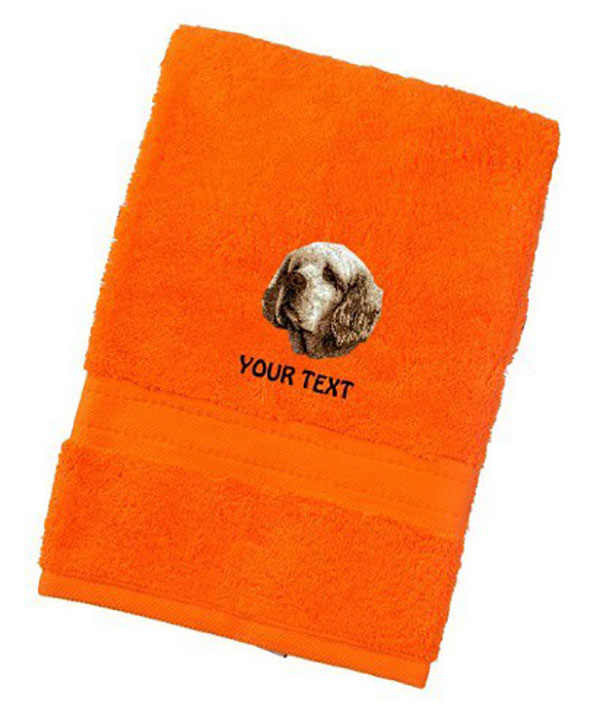 Clumber Spaniel Personalised Dog Towels Luxury Range - Hand Towel