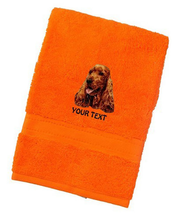 Cocker Spaniel Personalised Dog Towels Luxury Range
