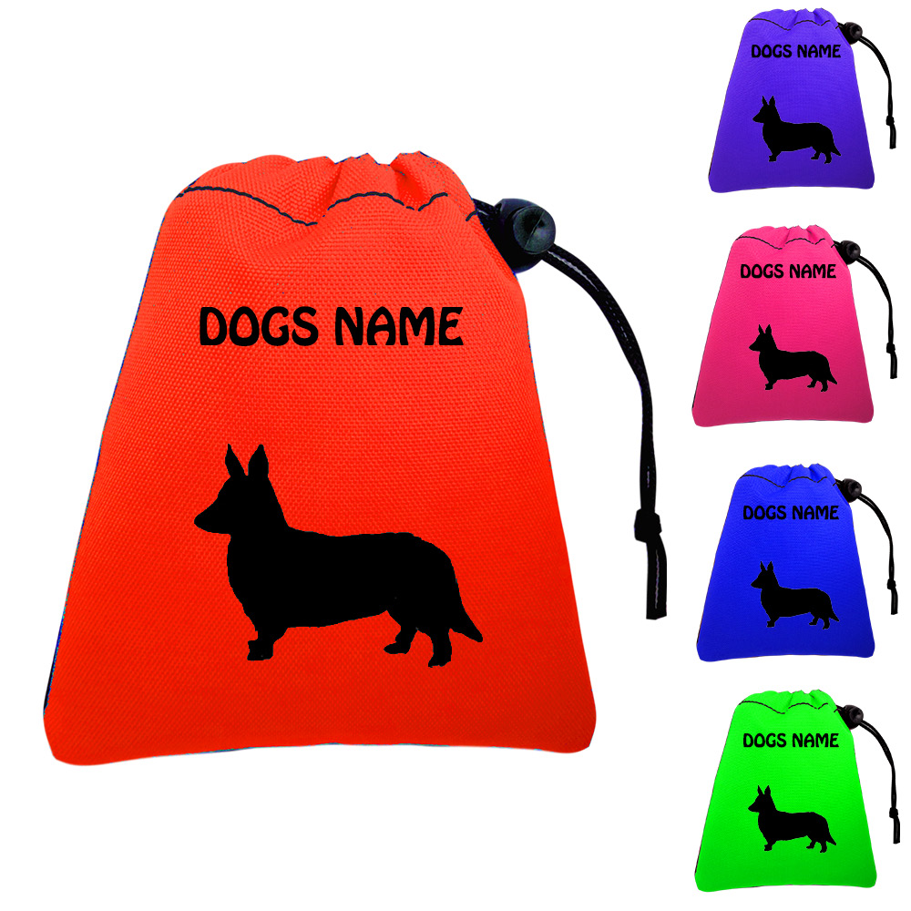 Corgi Personalised Dog Training Treat Bags - Pocket Version