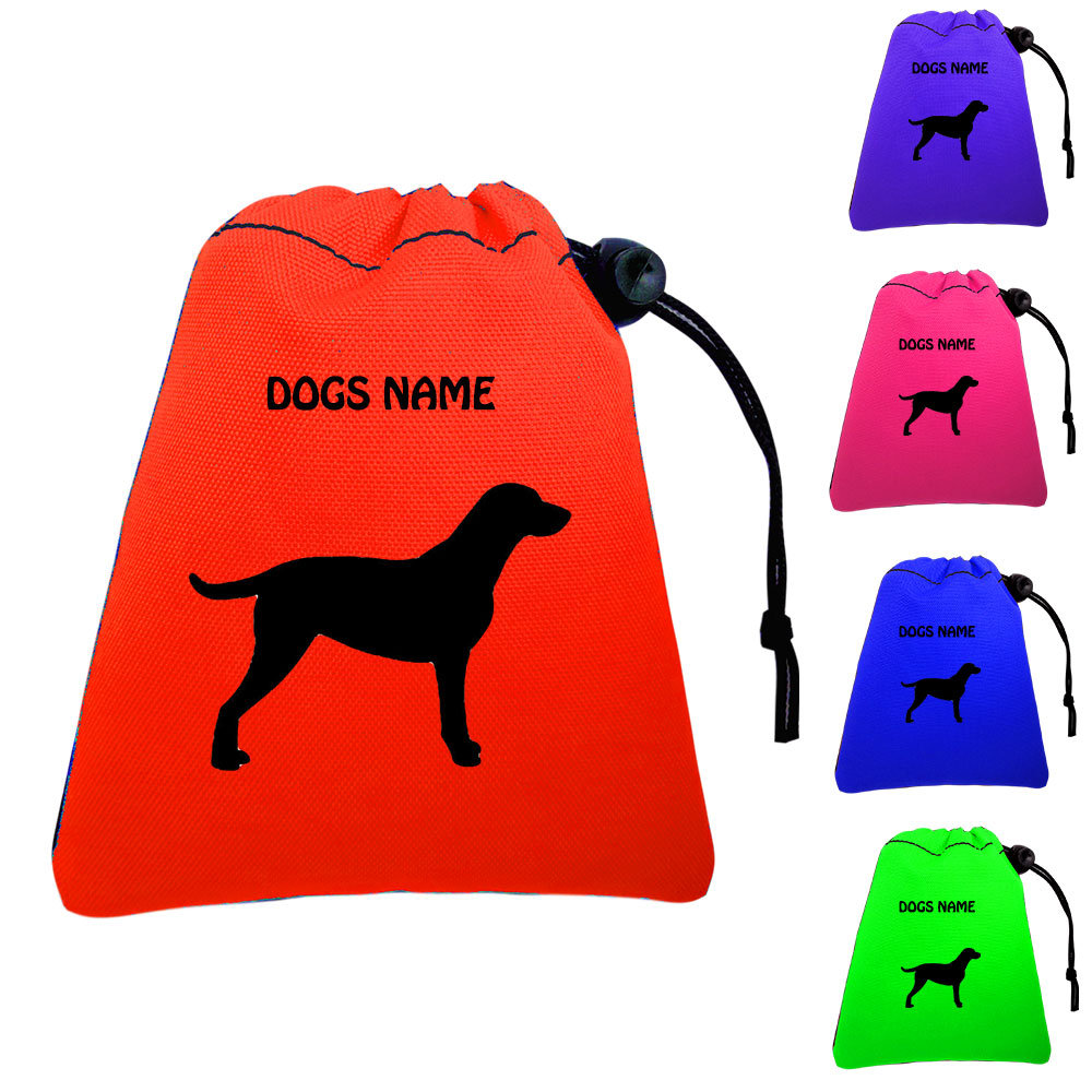 Curly Coated Retriever Personalised Dog Training Treat Bags - Pocket Version
