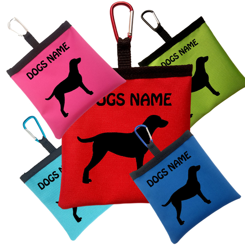 Curly Coated Retriever Personalised Pooh Bag Holder With Carabiner
