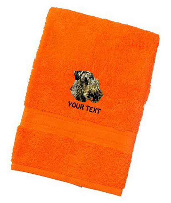 Czech Terrier Personalised Dog Towels Luxury Range - Face Cloth