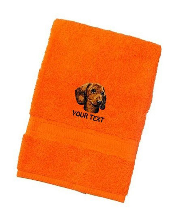 Dachshund Personalised Dog Towels Luxury Range - Bath Towel