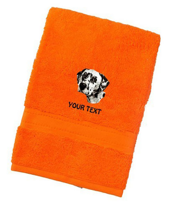 Dalmatian Personalised Dog Towels Luxury Range