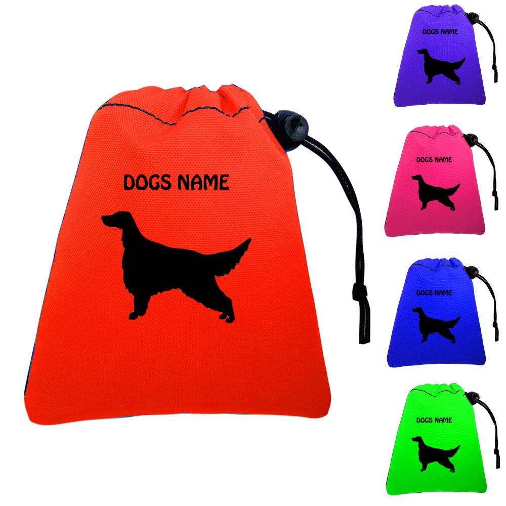 English Setter Personalised Training Treat Bags - Clips To Waistband