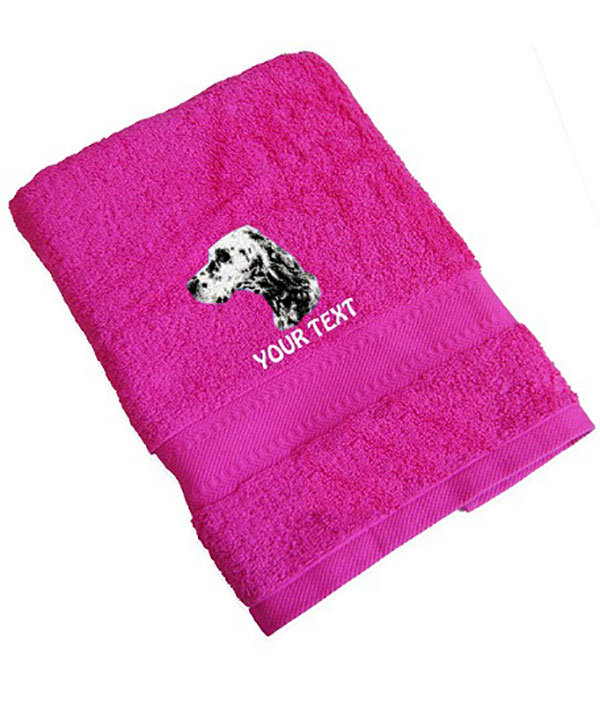 English Setter Personalised Dog Towels Standard Range