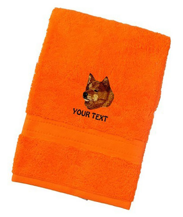 Finnish Spitz Personalised Dog Towels Luxury Range