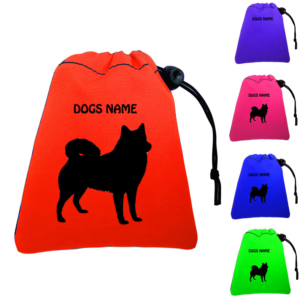 Finnish Spitz Personalised Training Treat Bags - Clips To Waistband