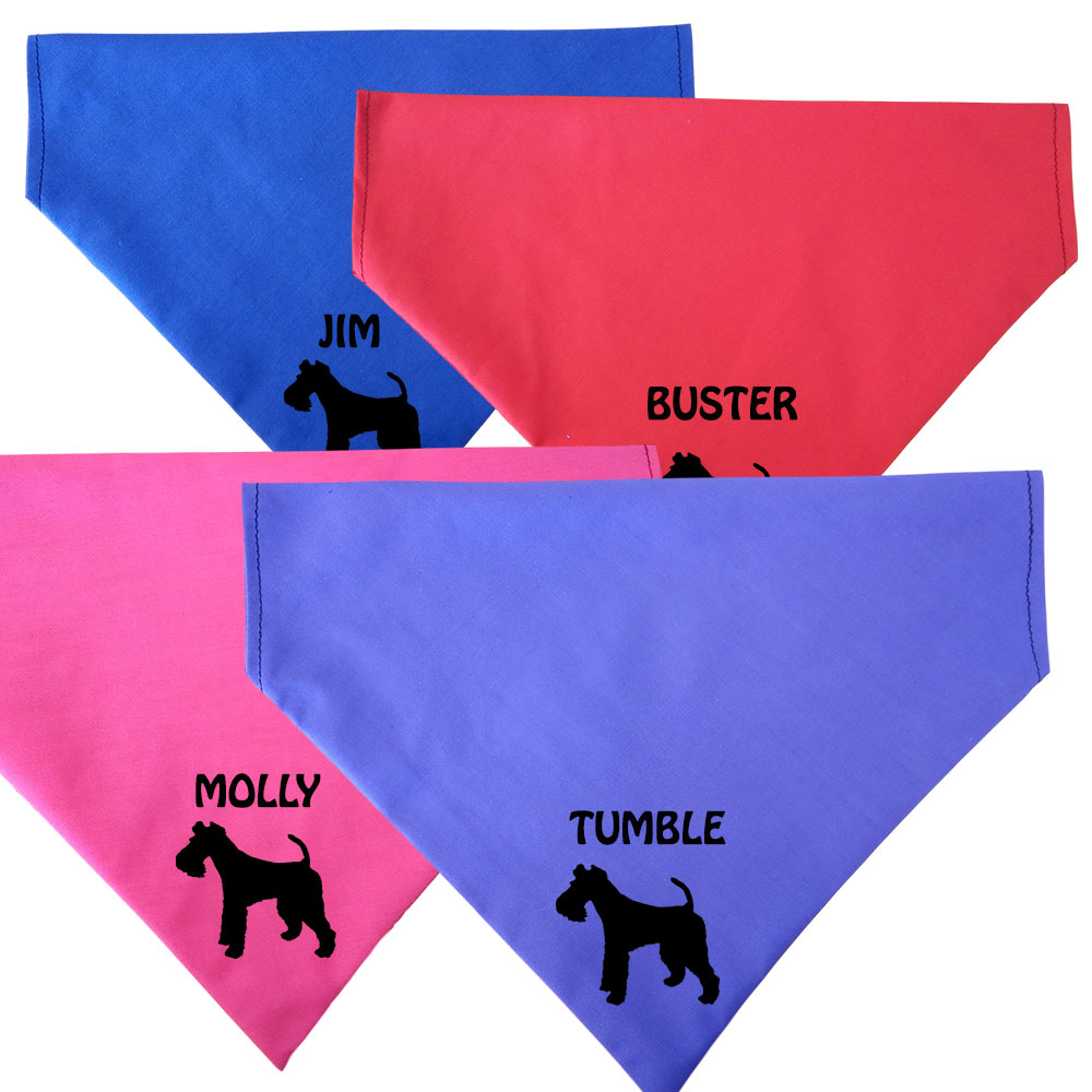 Fox Terrier Personalised Dog Bandanas - Fit To Collar