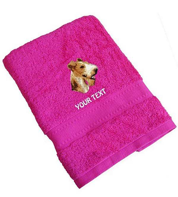 Fox Terrier Personalised Dog Towels Standard Range - Hand Towel