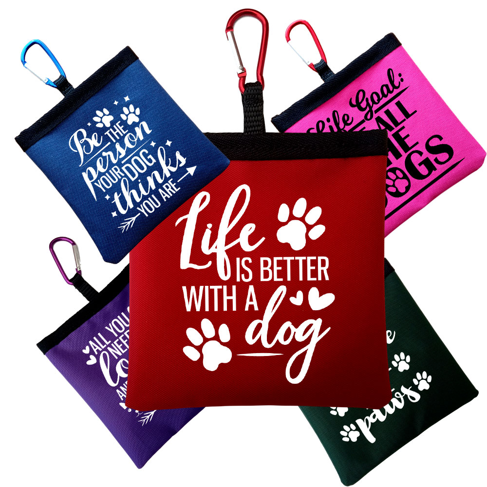 Personalised Funny Dog Quotes Pooh Bag Holder With Carabiner