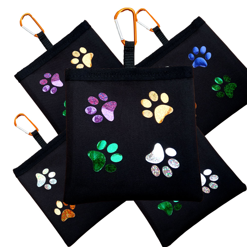 Dog Treat Bag Perfect For Training - Glittery Paw Prints - Limited Edition