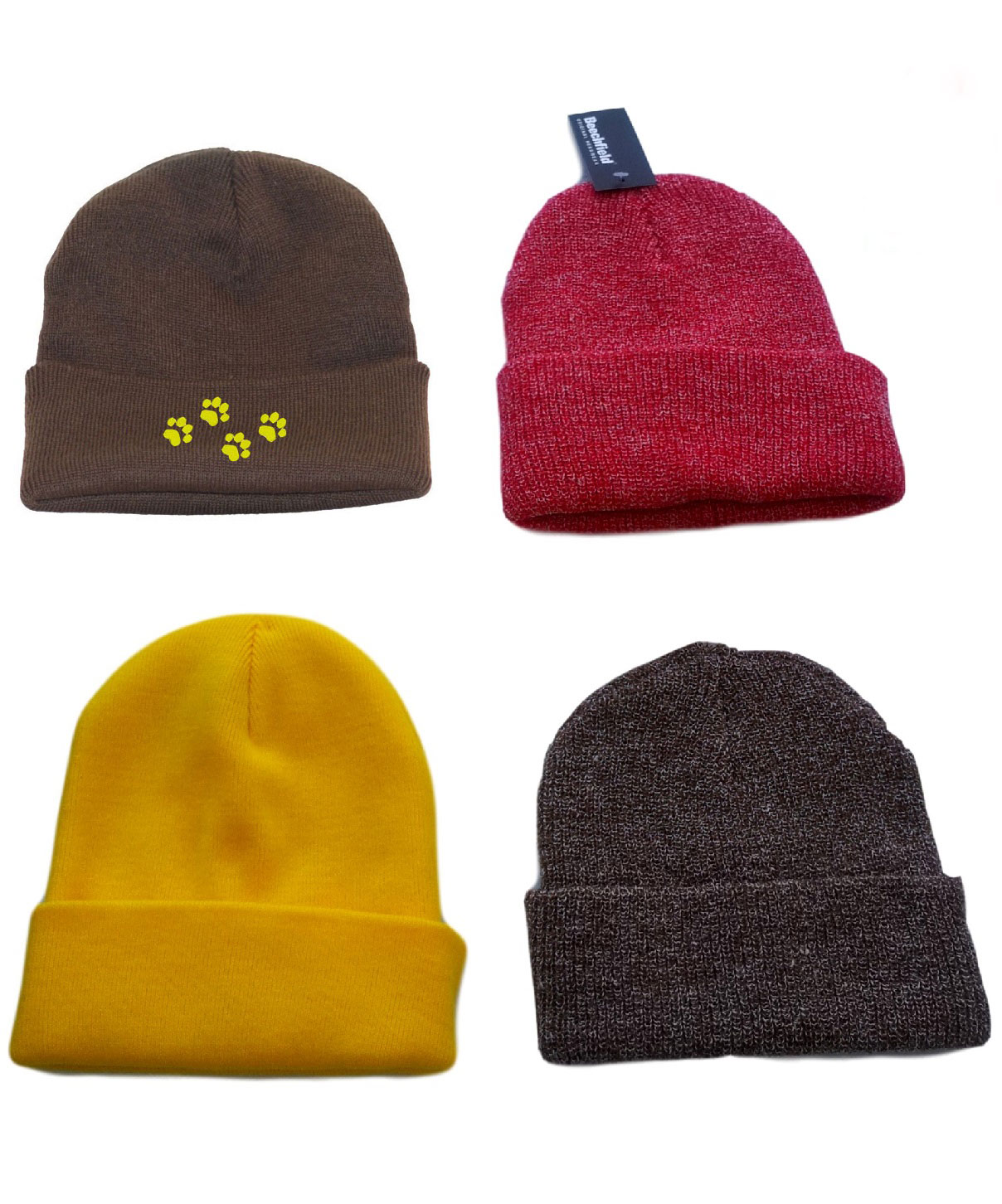 Half Price | Tiny Pawprints | Beanie hat Colour Various Colours