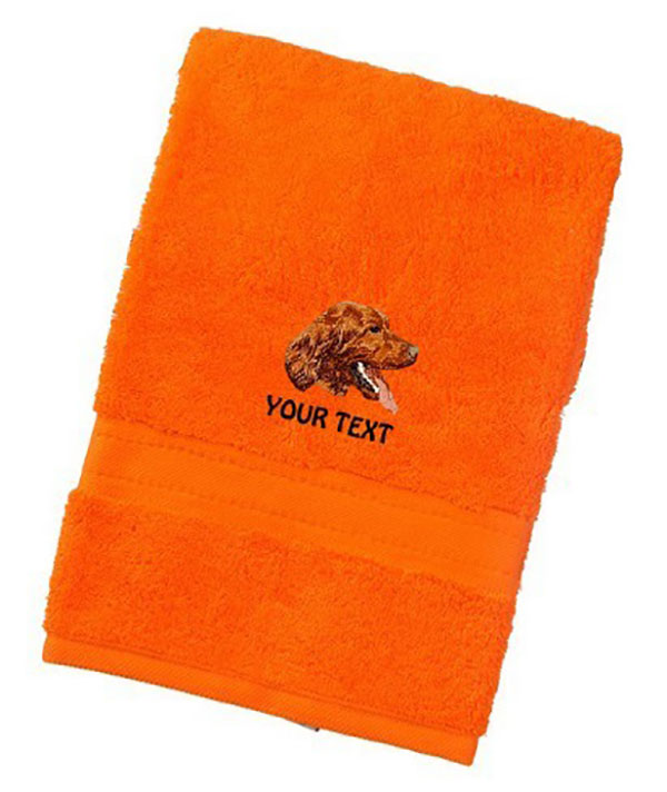 Irish Red Setter Personalised Dog Towels Luxury Range