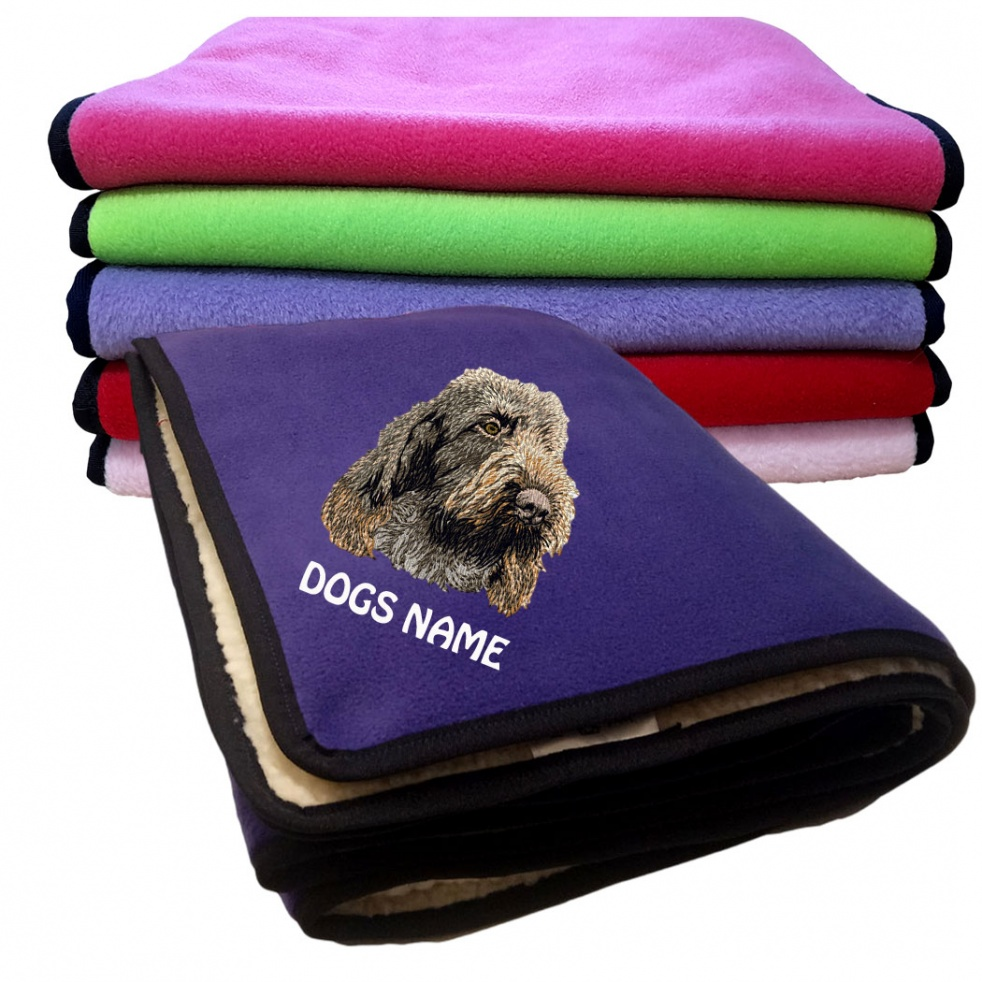 Italian Spinone Personalised Fleece Dog Blankets