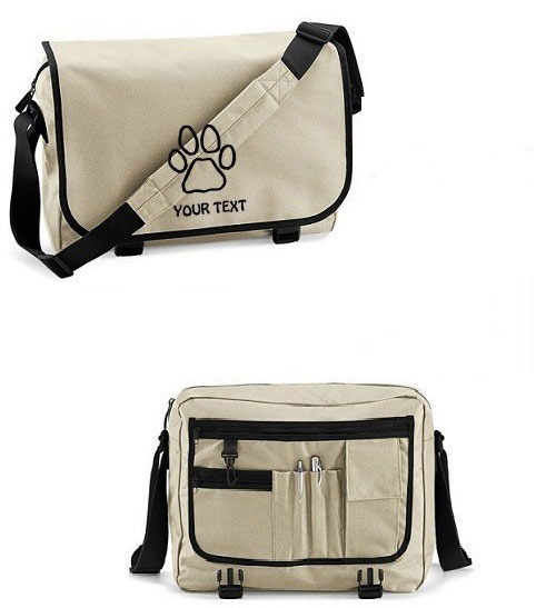 Half Price | Pawprint Messenger Bag Colour Sand