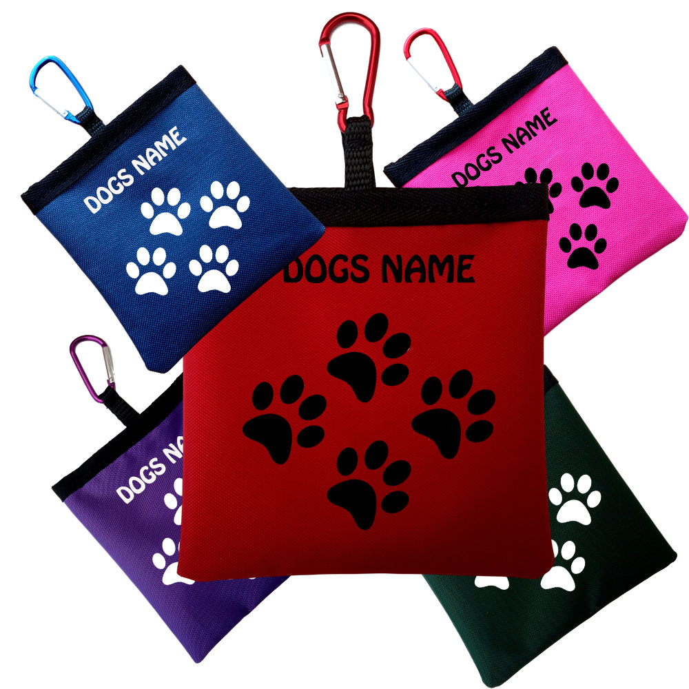 Personalised Dog Poop/Pooh/Bag Holder  Fits Loose Bags & Rolls Various Colours