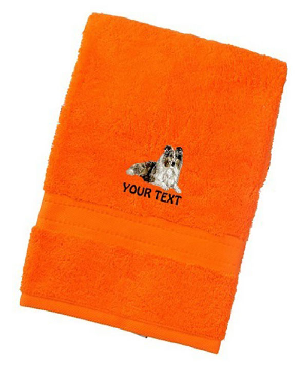 Rough Collie Dog Towels Luxury Range - Hand Towel