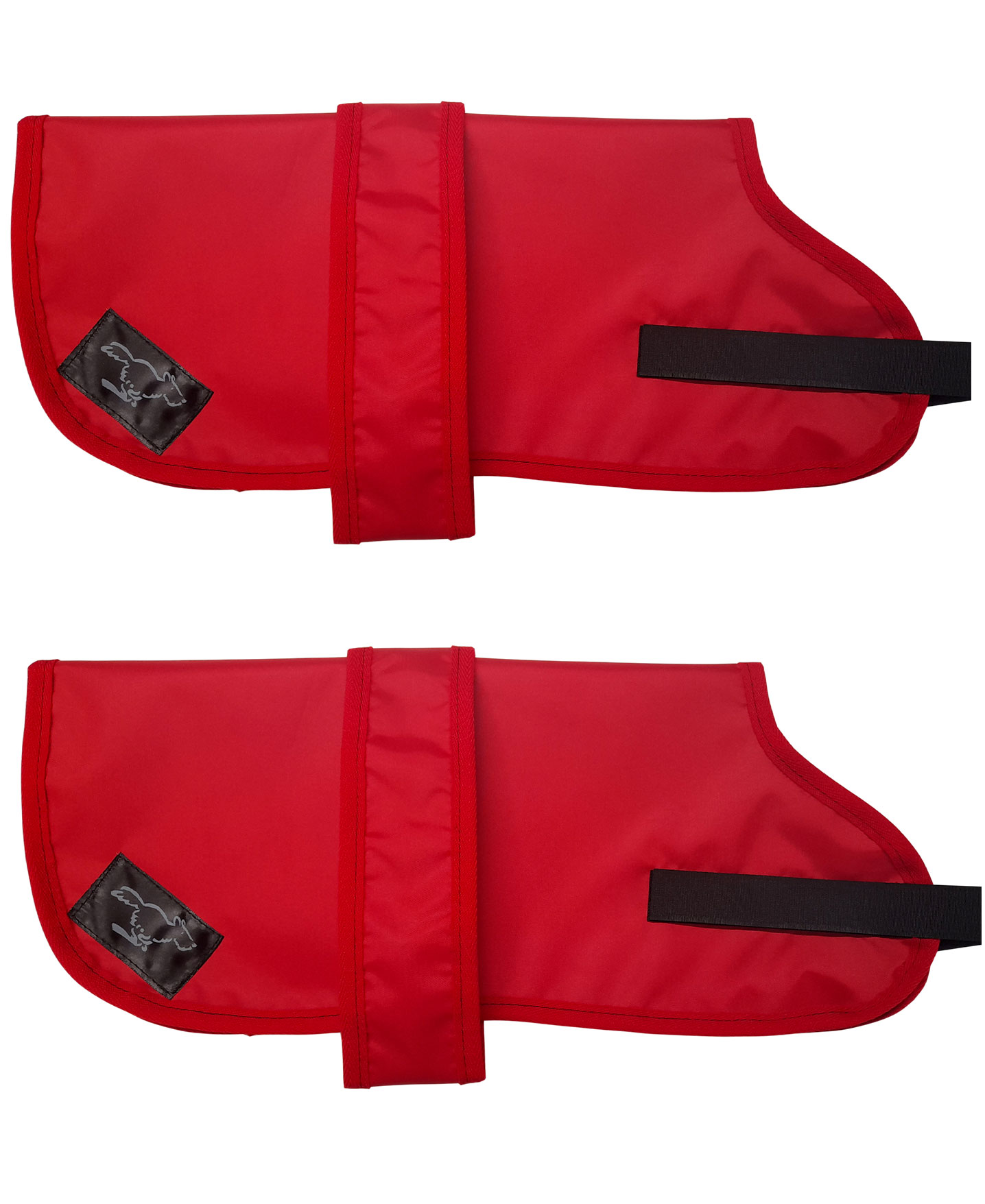 Personalised Waterproof Dog Coats - Lightweight Lining - Red