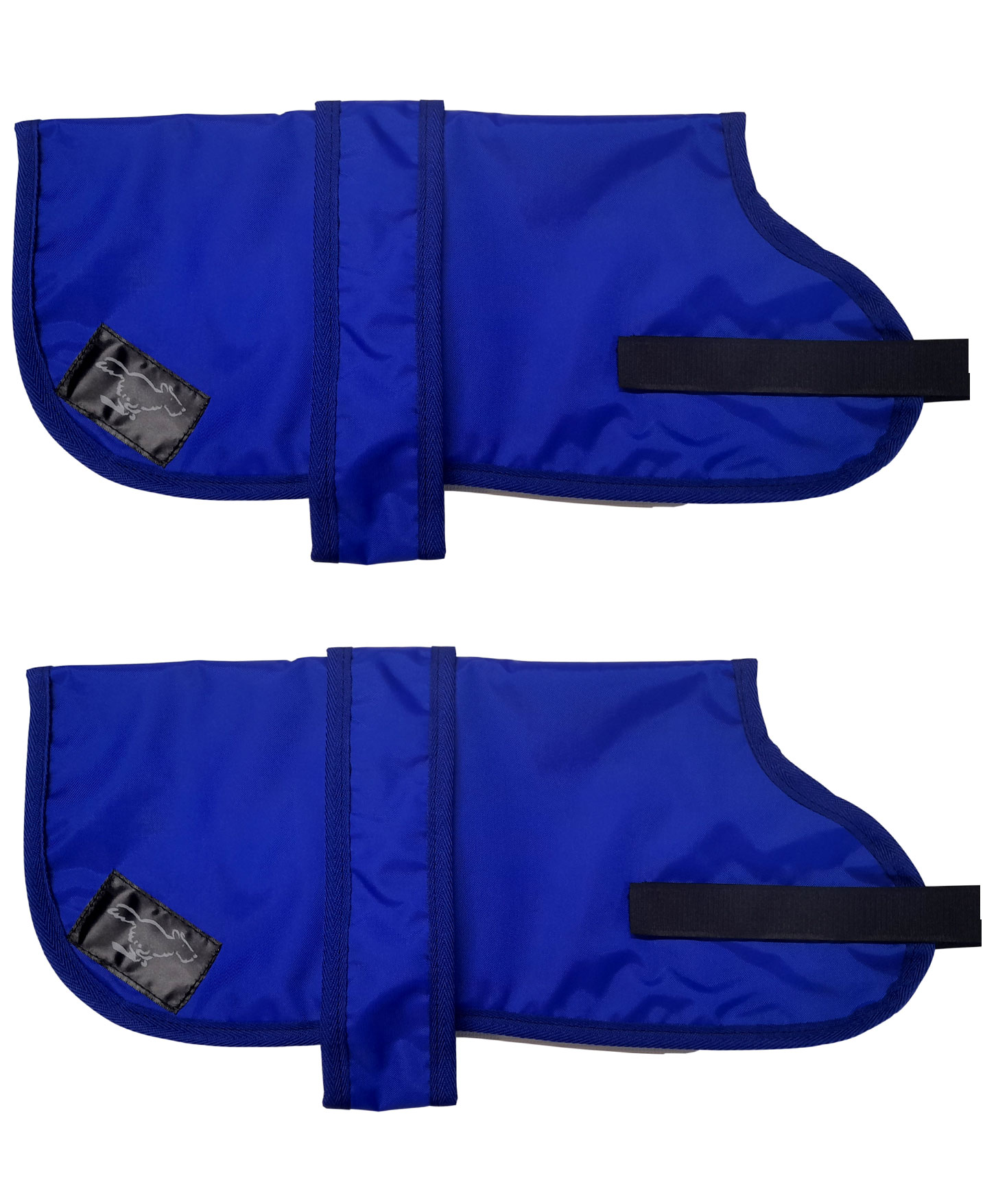 Personalised Waterproof Dog Coats - Lightweight Lining - Royal Blue