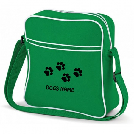 Pawprint Personalised Bagbase Flight Bag