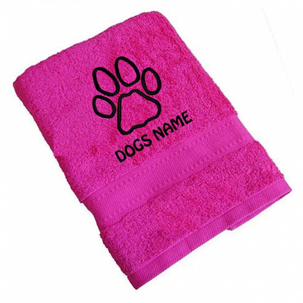 Personalised Dog Towels Paw Prints | Standard Range - Hand Towel
