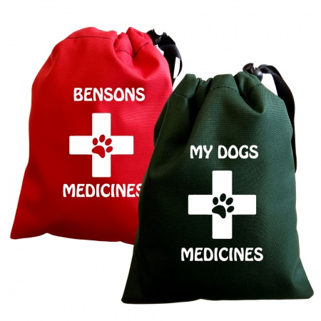 Personalised Dog Medicine Bag
