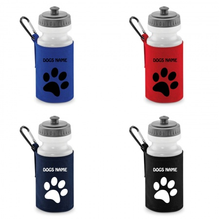 Personalised Dog Water Bottle & Holder
