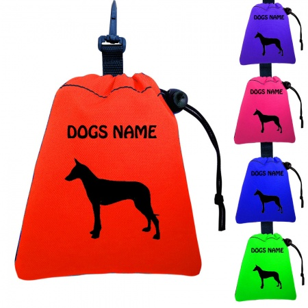 Pharoah Hound Personalised Training Treat Bags - Clips To Dog Lead