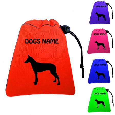 Pharoah Hound Personalised Training Treat Bags - Clips To Waistband