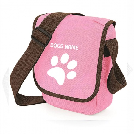 Personalised Pawprint Bag Base Mini Reporter Bag - Pink