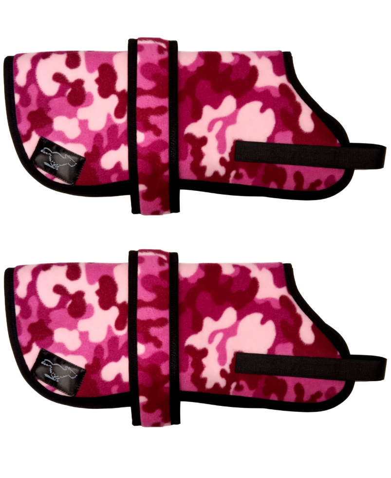 Personalised Fleece Dog Coats - Pink Camo
