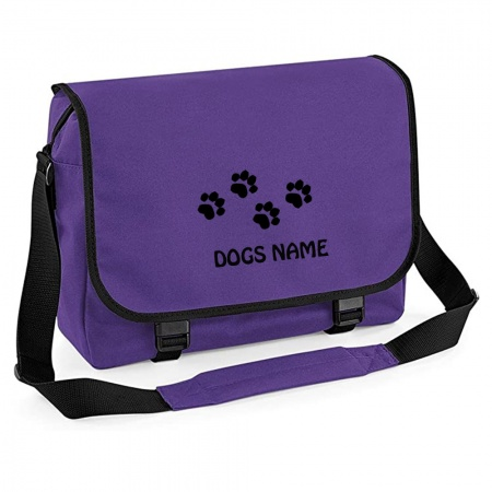 Personalised Messenger Bag - Purple