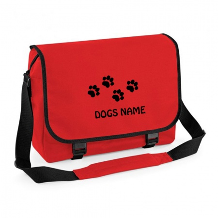 Personalised Messenger Bag - Red