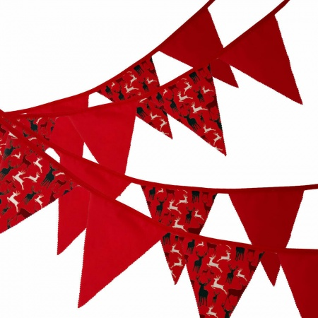 Bunting - Red Stag - 12 Flags - 10 ft length ( 3 metres)