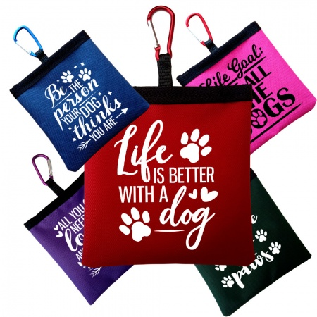 Treat Bag Perfect For Dog Training  Pocket Size - Funny Dog Quotes