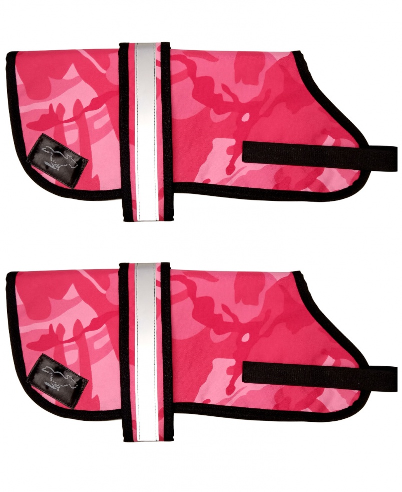 Personalised Waterproof Dog Coats | Pink Camouflage
