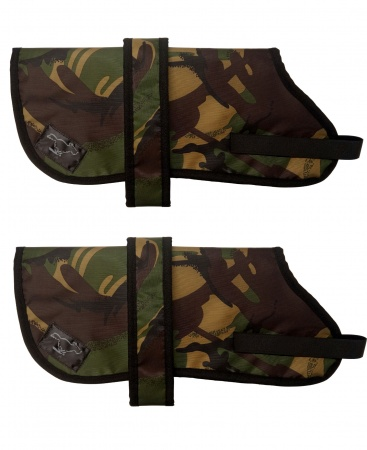 Fox Terrier Personalised Waterproof Dog Coats | Camouflage Design| Sherpa Fleece Lining